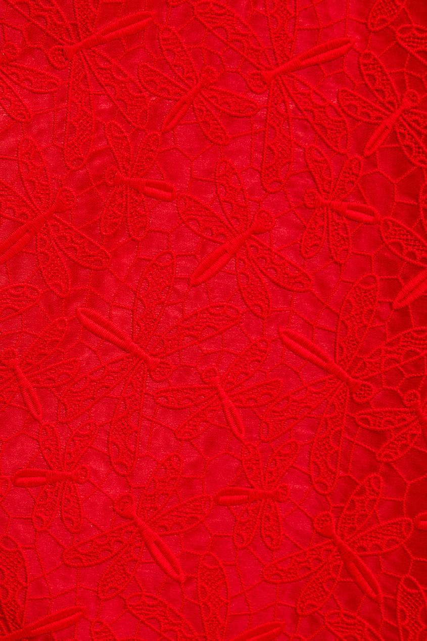 женская юбка rochas, красная