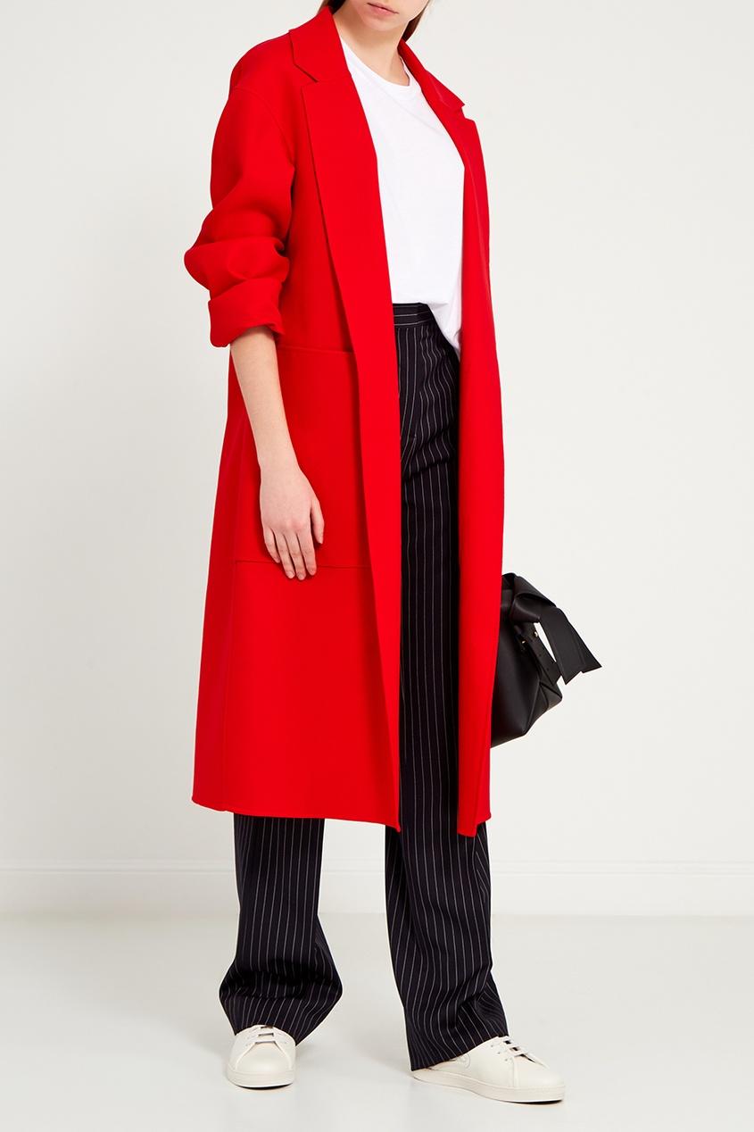 женское пальто rochas, красное