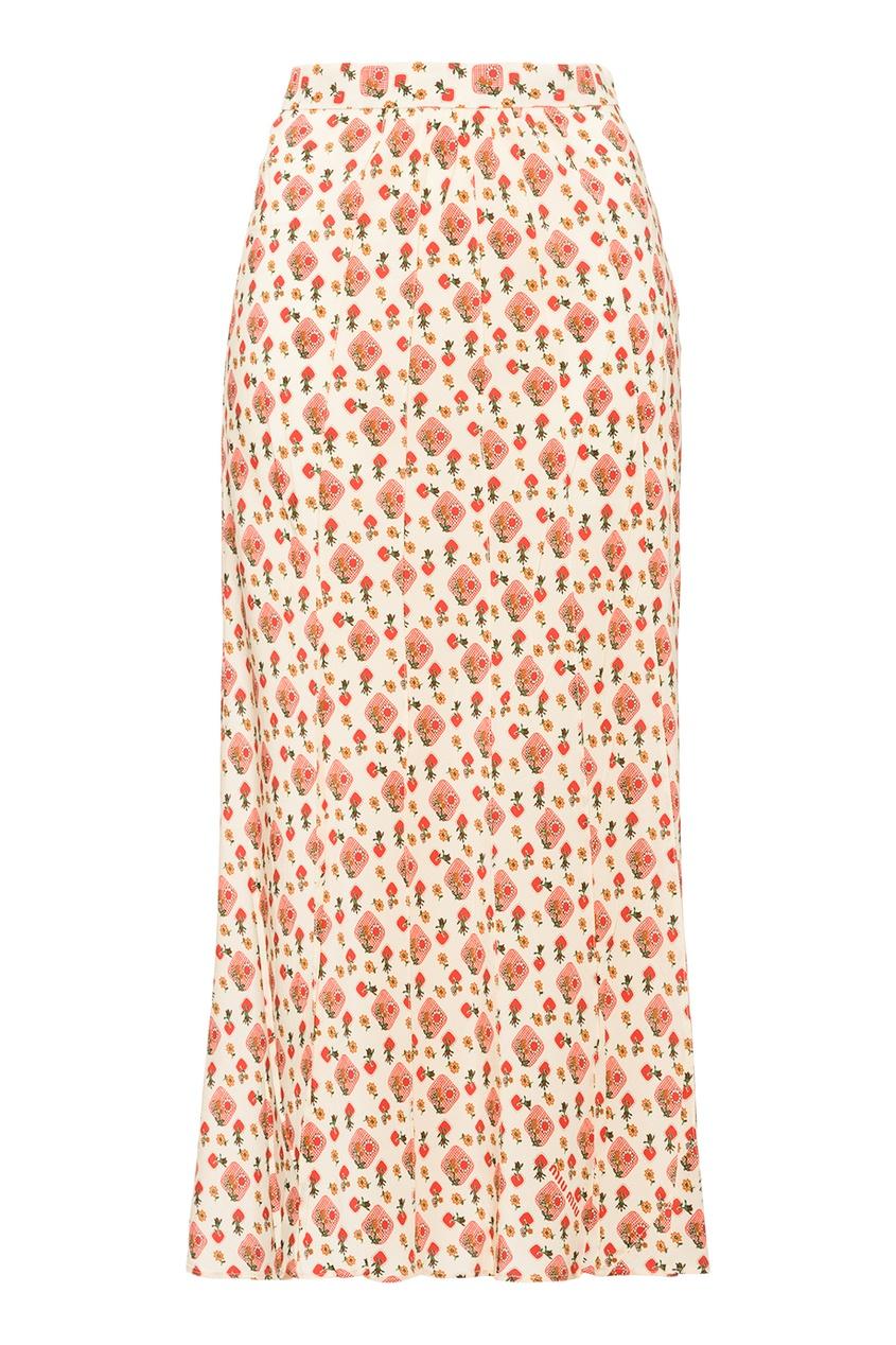 Miu Miu Шелковая юбка в складку printio юбка в складку