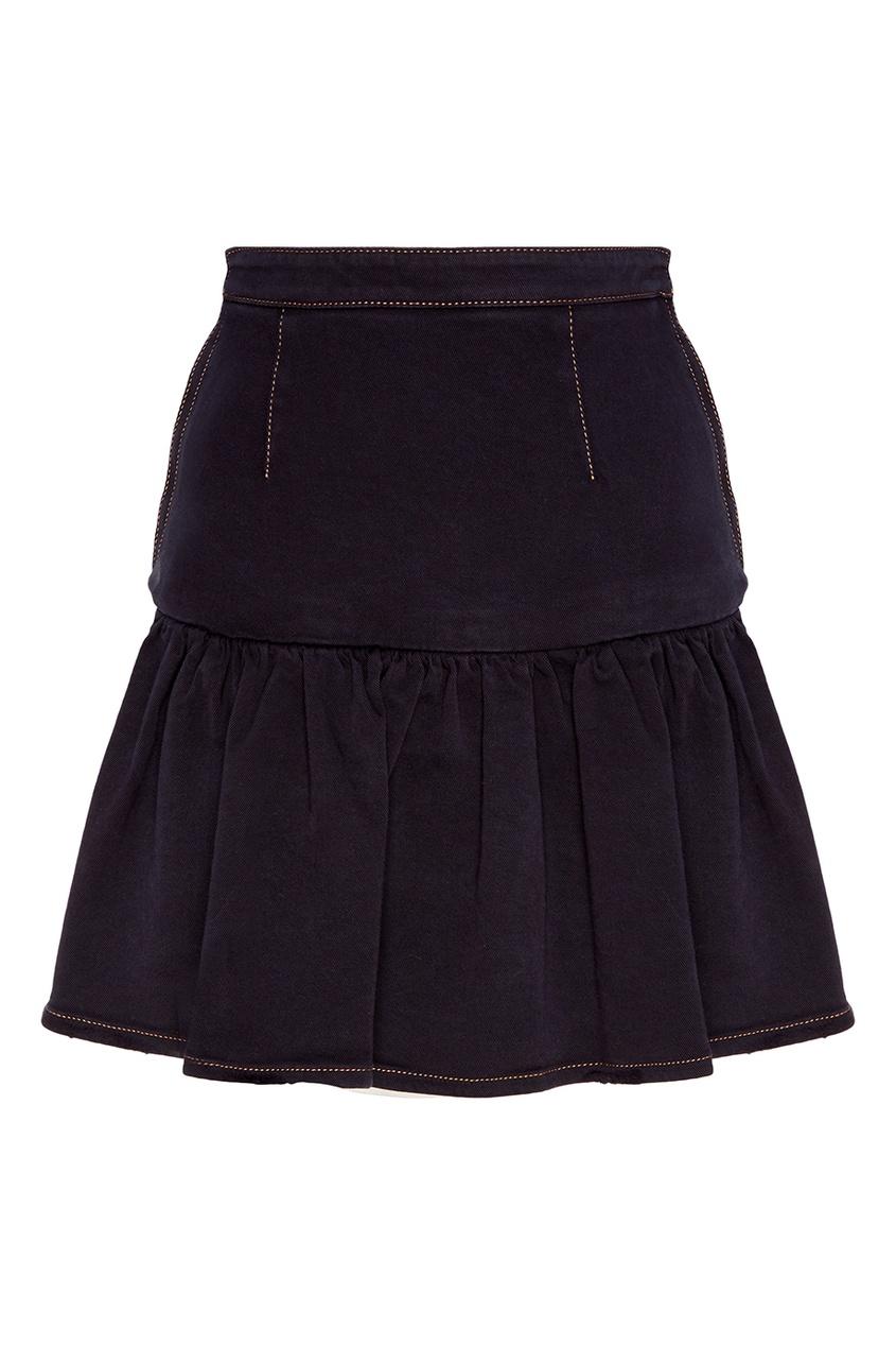 Короткая юбка из стрейч-денима