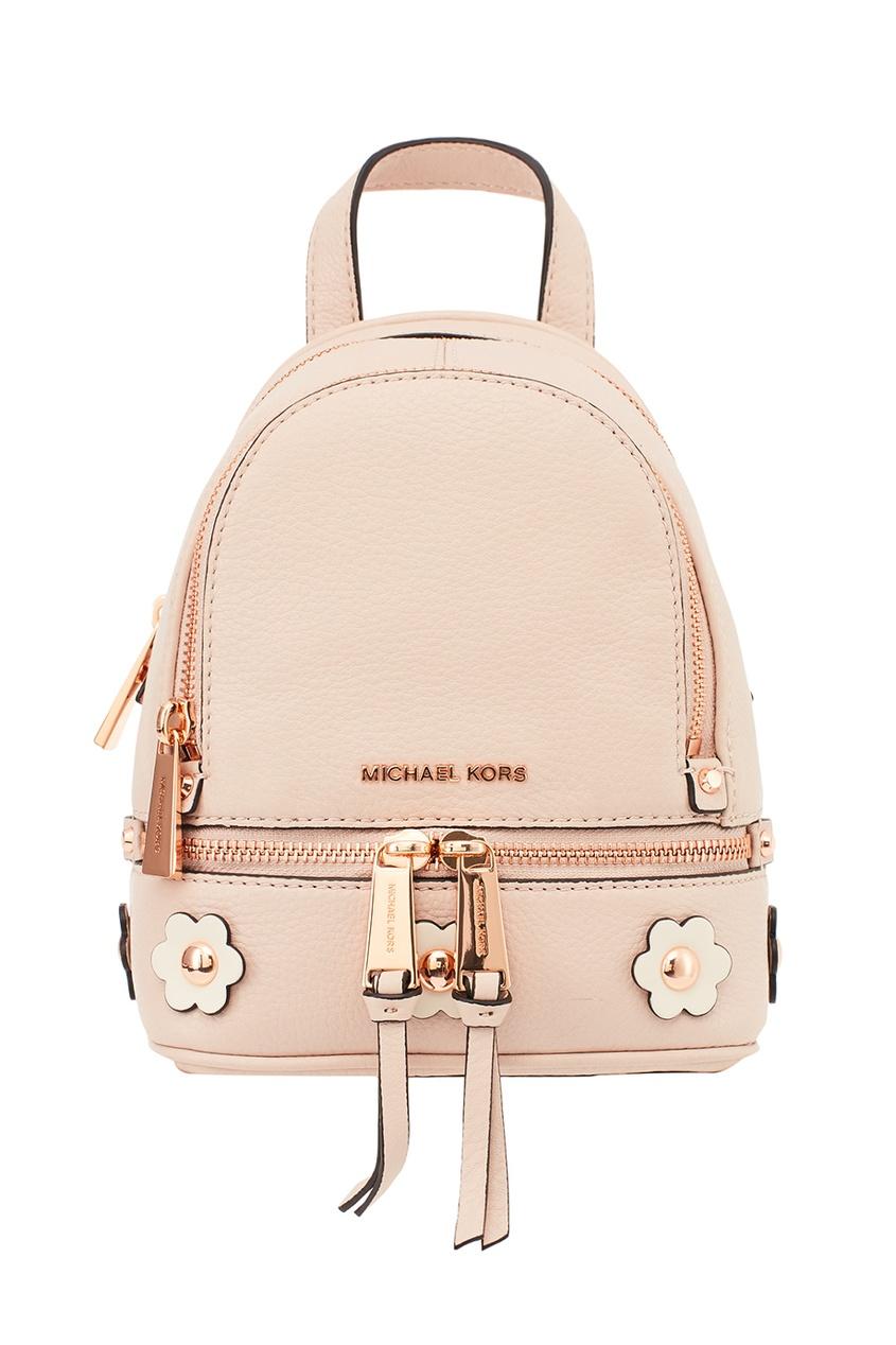 Michael Kors Пудровый рюкзак с аппликацией Rhea Zip рюкзак michael michael kors michael michael kors mi048bwaecc9