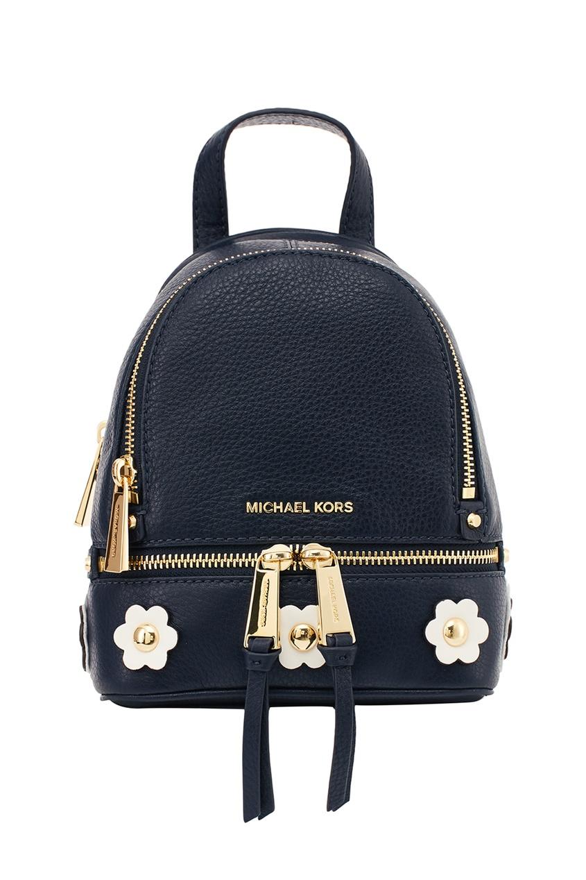 Michael Kors Кожаный рюкзак с аппликацией Rhea Zip рюкзак michael michael kors michael michael kors mi048bwaecc9