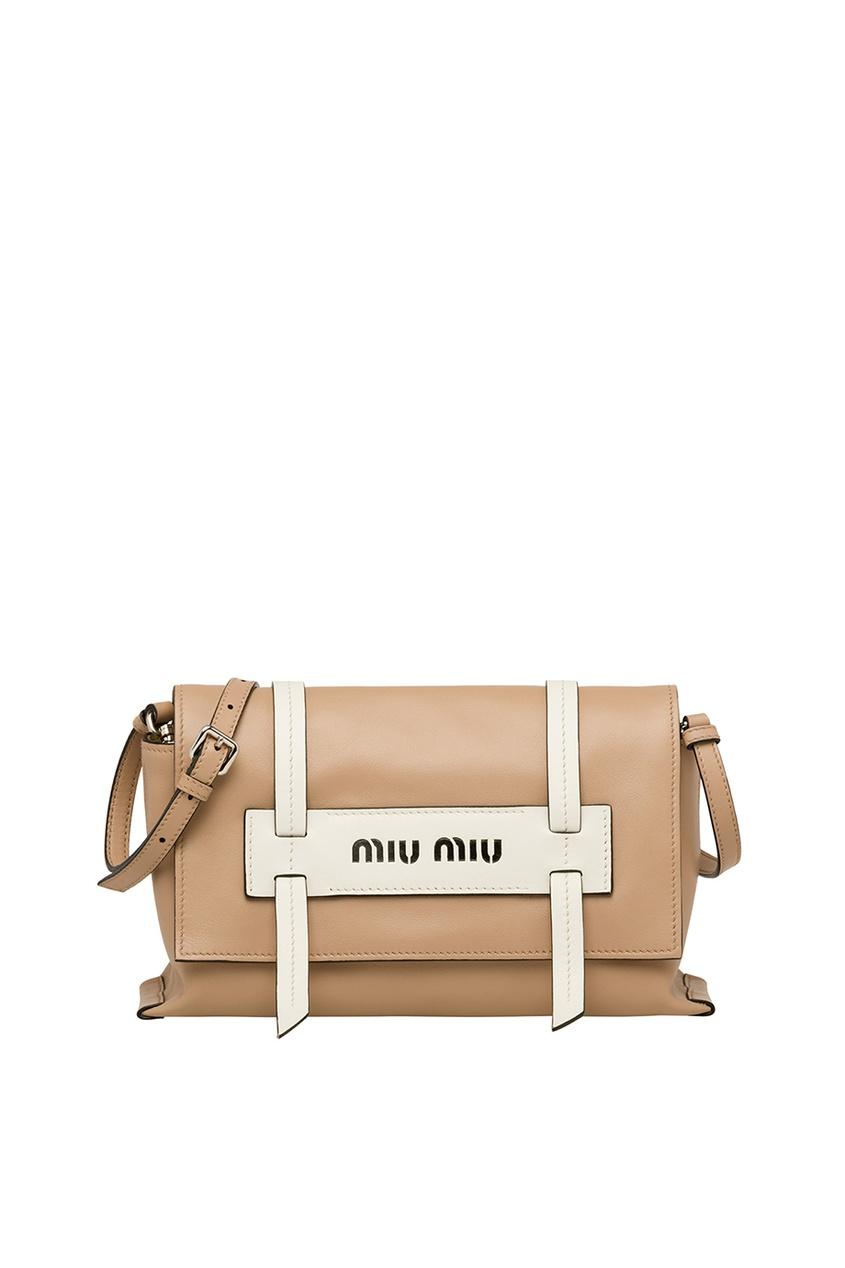 Бежевая кожаная сумка Grace Luxe