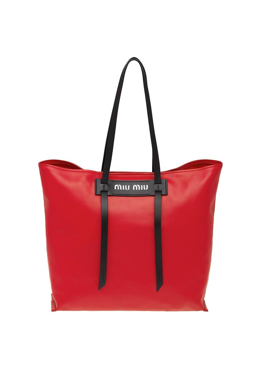 Красная кожаная сумка Grace Luxe