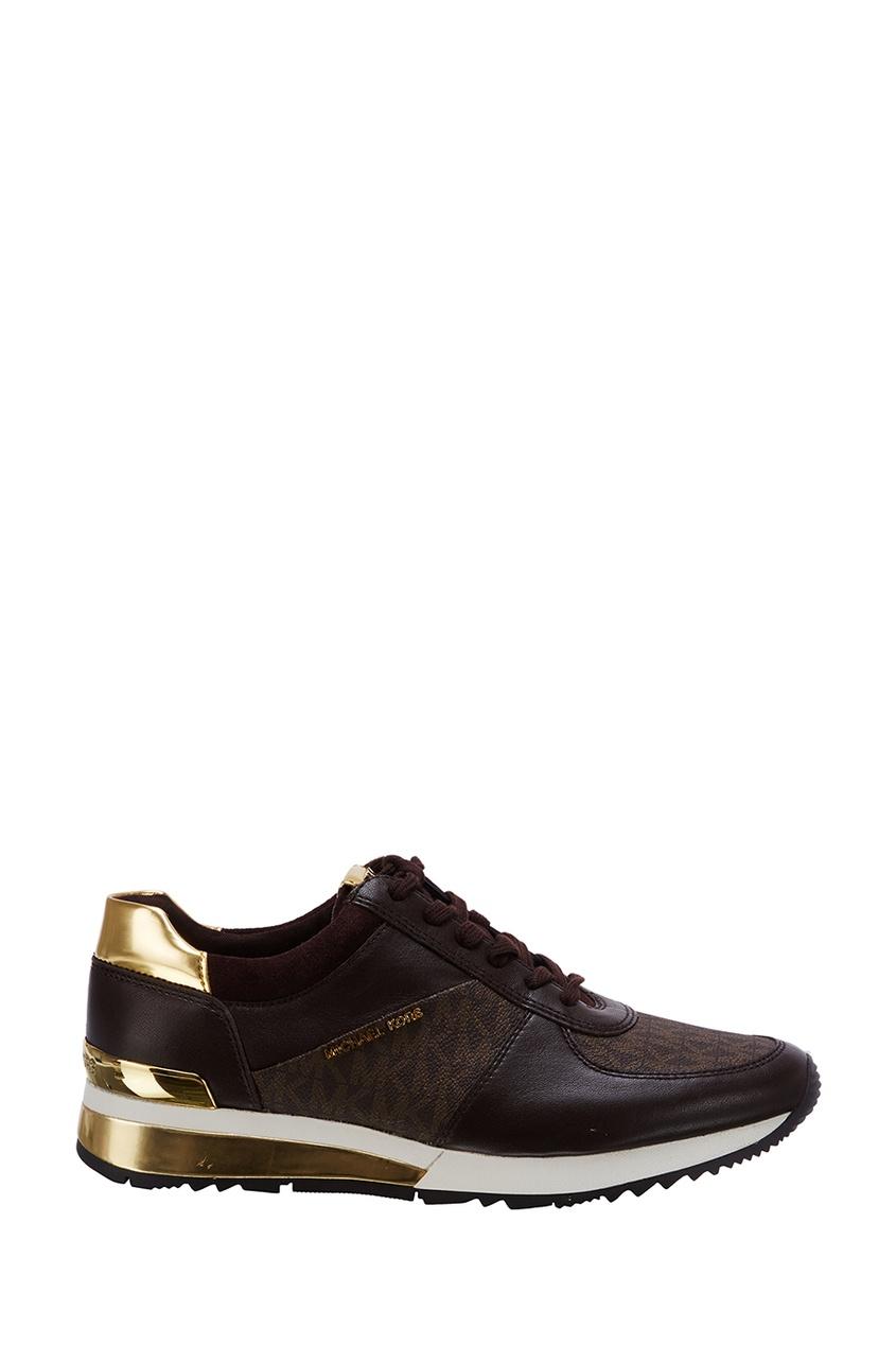 женские кроссовки michael kors, коричневые