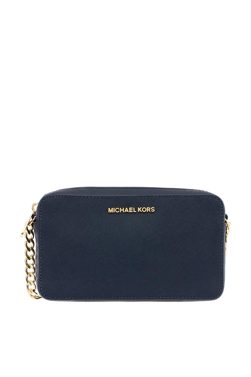 Michael Michael Kors Синяя сумка из кожи Crossbodies сумка michael michael kors 30s4gtvt2l 848 cherry page 2