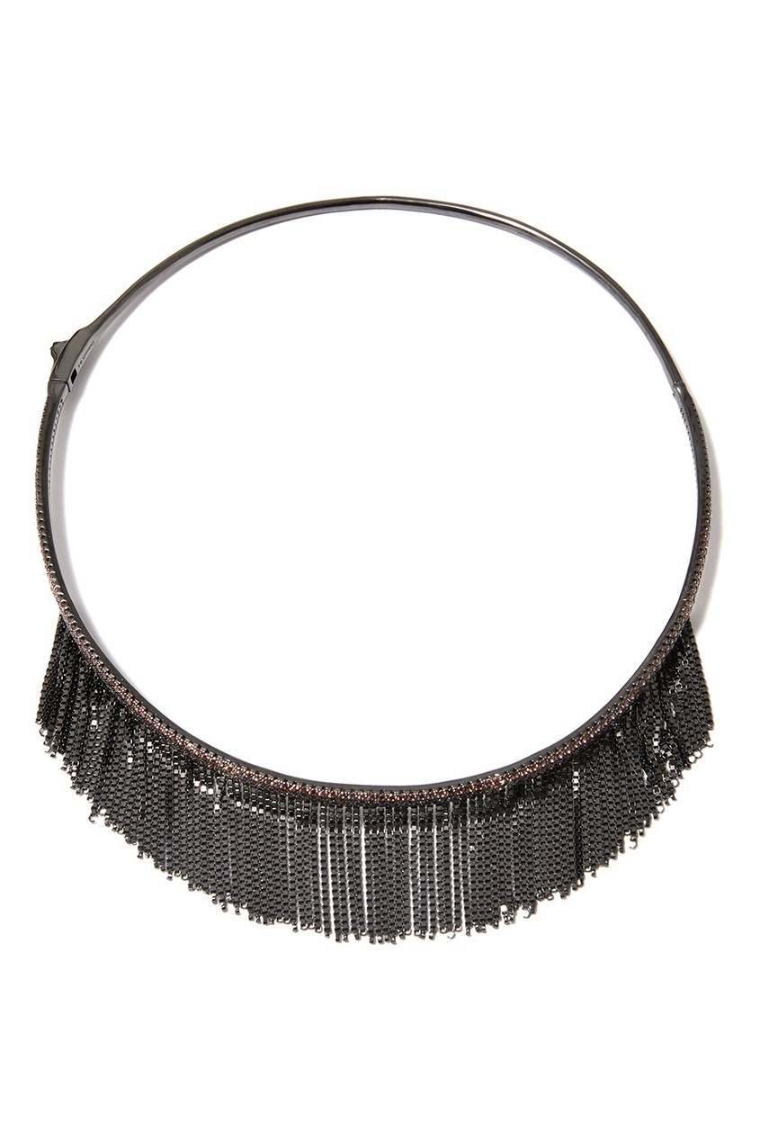 Dzhanelli Jewellery Чокер с бахромой из цепочек