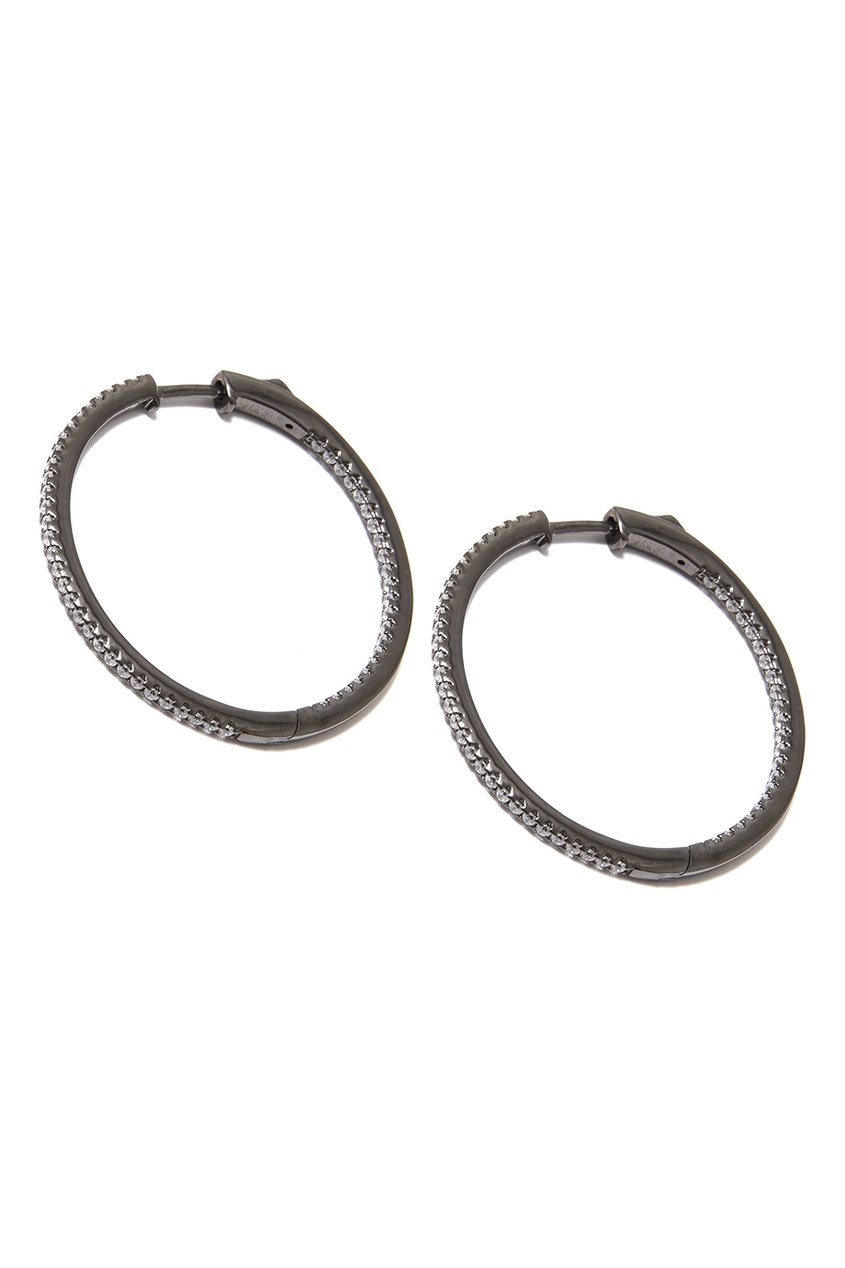 Dzhanelli Jewellery Серьги-кольца с фианитами