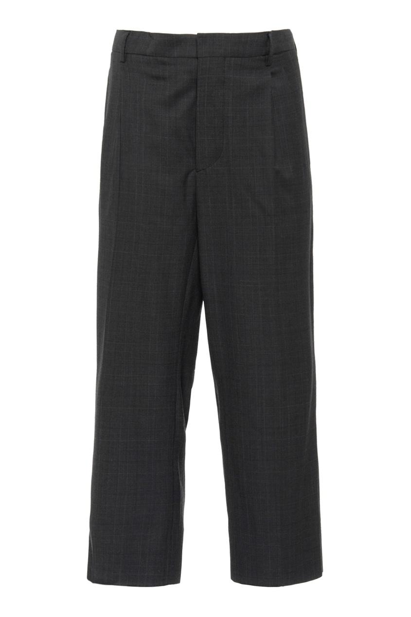 Miu Miu Серые шерстяные брюки brioni шерстяные брюки серые