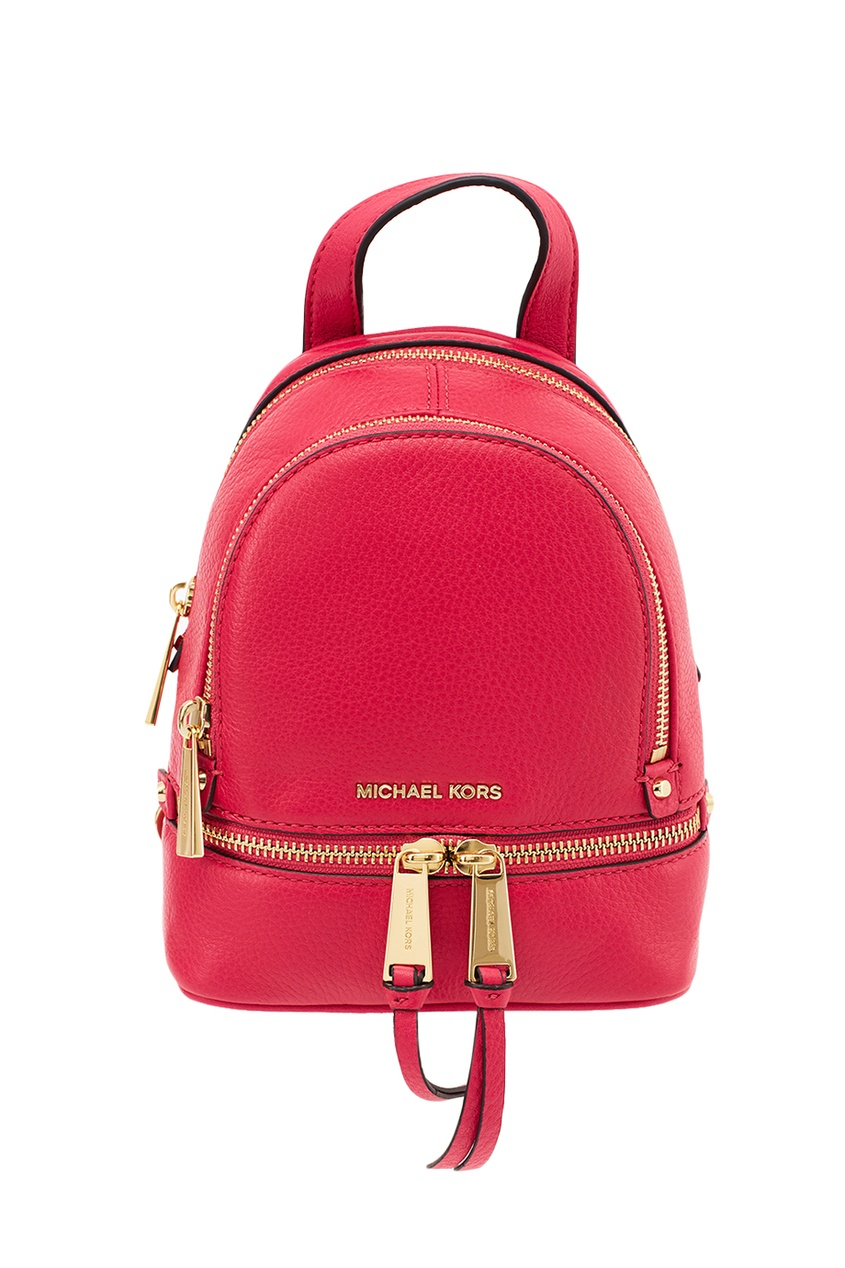 Michael Kors Малиновый рюкзак Rhea Zip рюкзак michael michael kors michael michael kors mi048bwnzp53