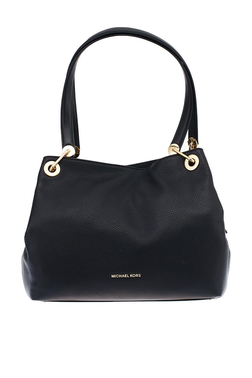 Черная кожаная сумка Raven