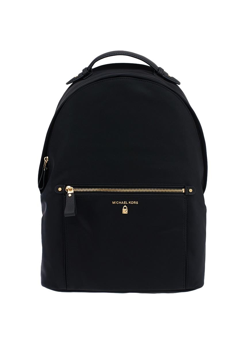 Michael Kors Черный кожаный рюкзак Nylon Kelsey рюкзак michael michael kors michael michael kors mi048bwaecc9