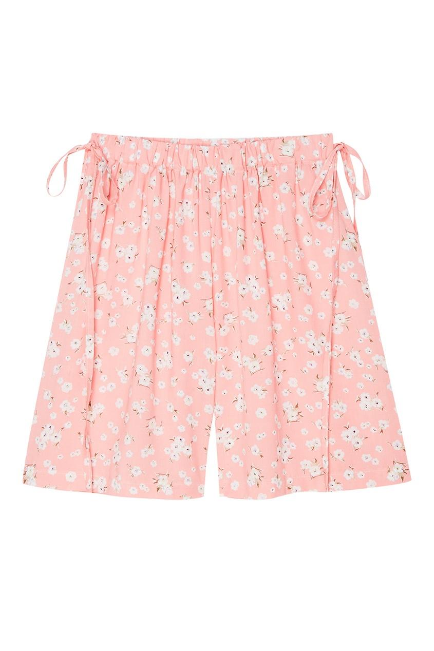 Фото - Розовые шорты с цветами от BLANK.MOSCOW розового цвета