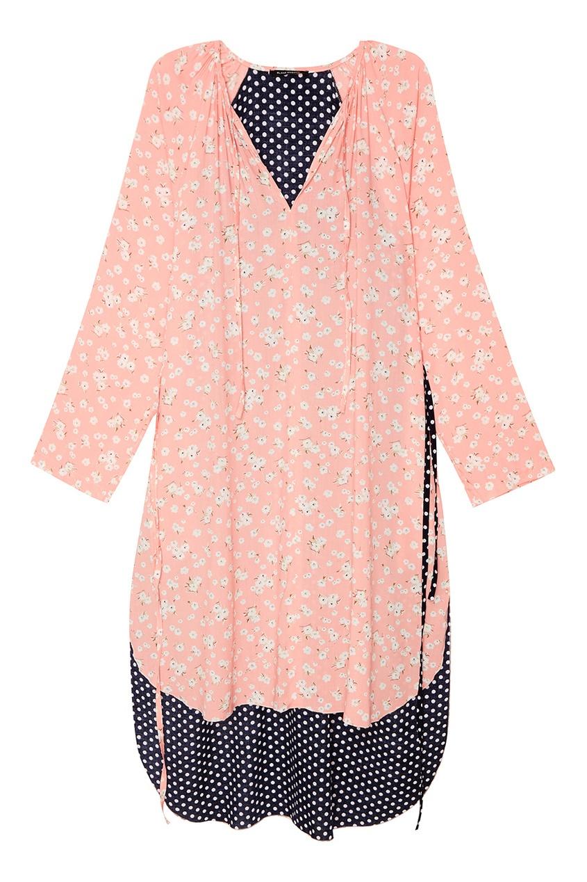 BLANK.MOSCOW Розовое платье с цветами