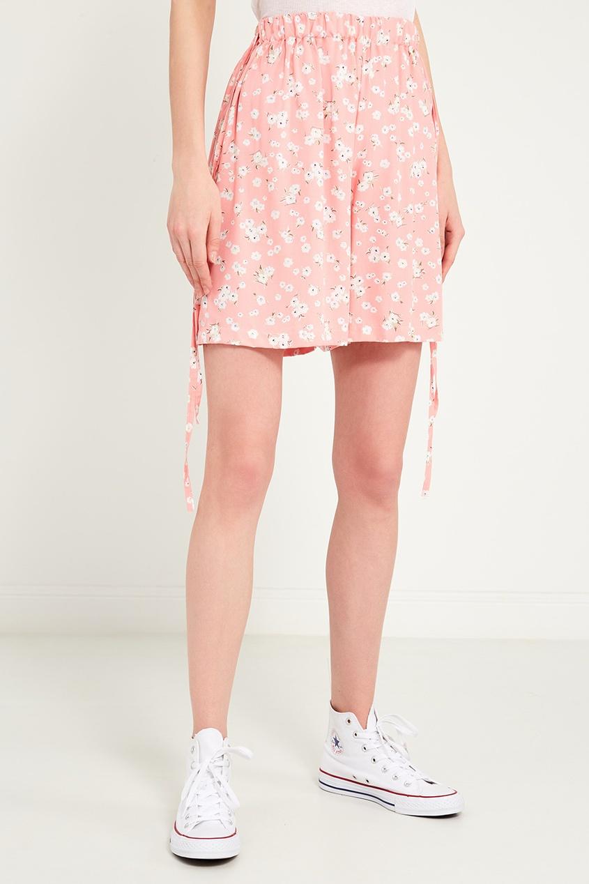 Фото 6 - Розовые шорты с цветами от BLANK.MOSCOW розового цвета
