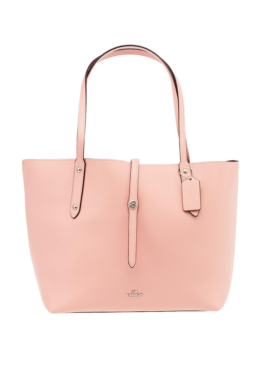 Coach Розовая сумка-шопер Market Tote market day