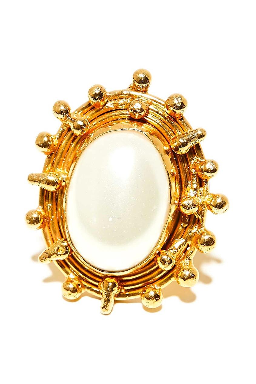 цены Sylvia Toledano Позолоченное кольцо с жемчугом