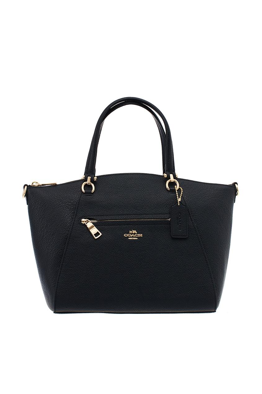 Coach Черная кожаная сумка-тоут Prairie сумка тоут grey oceans