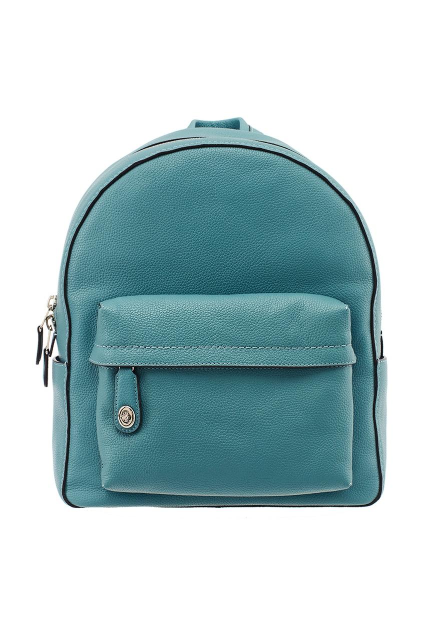 Голубой рюкзак из кожи Campus