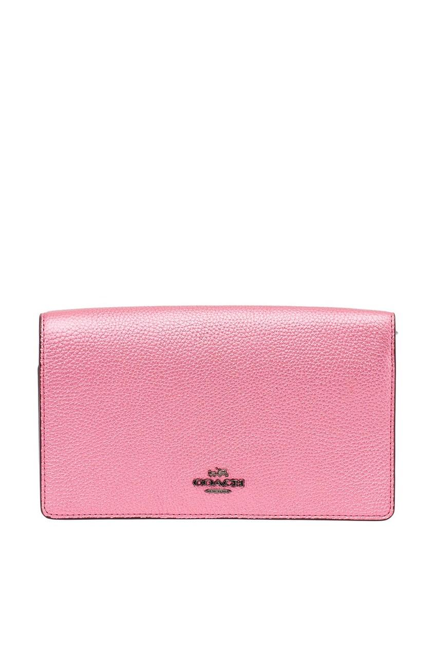 Coach Розовая сумка с логотипом Foldover