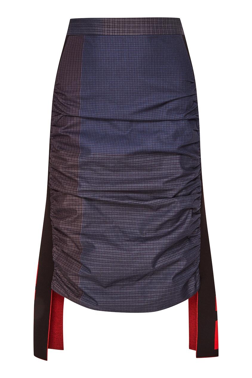 Stella McCartney Юбка с крупными вставками stella mccartney юбка с асимметричной баской
