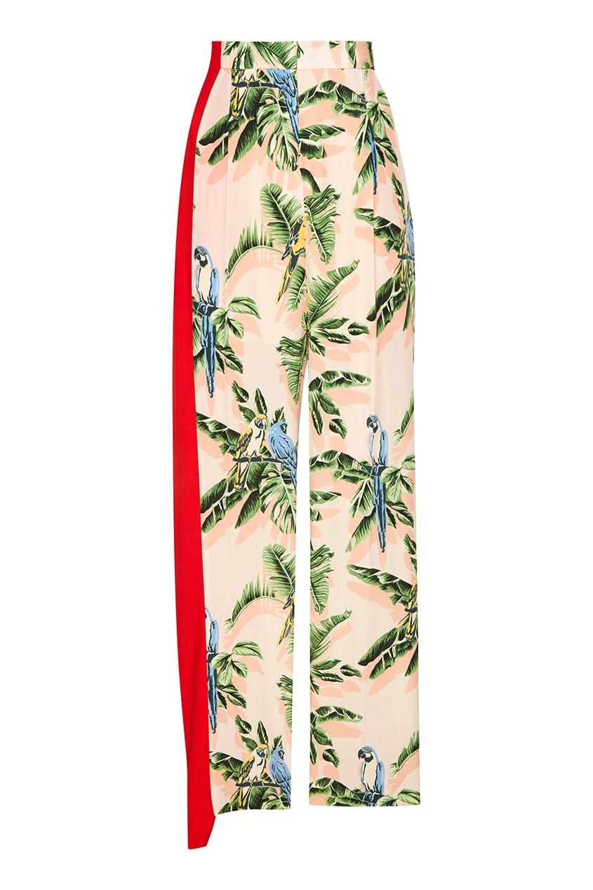 Stella McCartney Брюки с принтом и красной вставкой рубашка поло stella plays printio слава красной армии