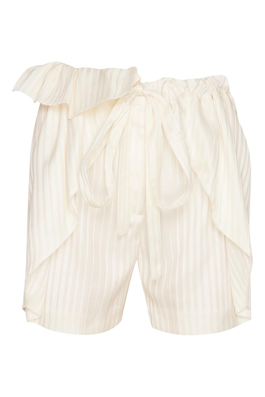 Stella McCartney Шелковые белые шорты stella mccartney шелковые брюки с принтом