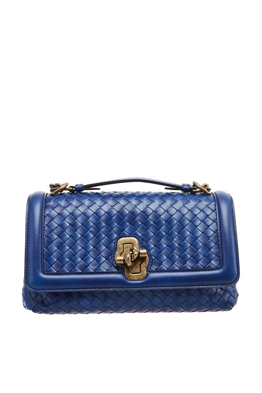 Bottega Veneta Синяя плетеная сумка сумка bottega veneta 45207744ht 2015