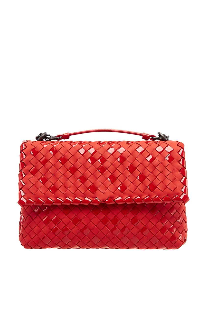 Bottega Veneta Красный плетеный клатч клатч galib клатч