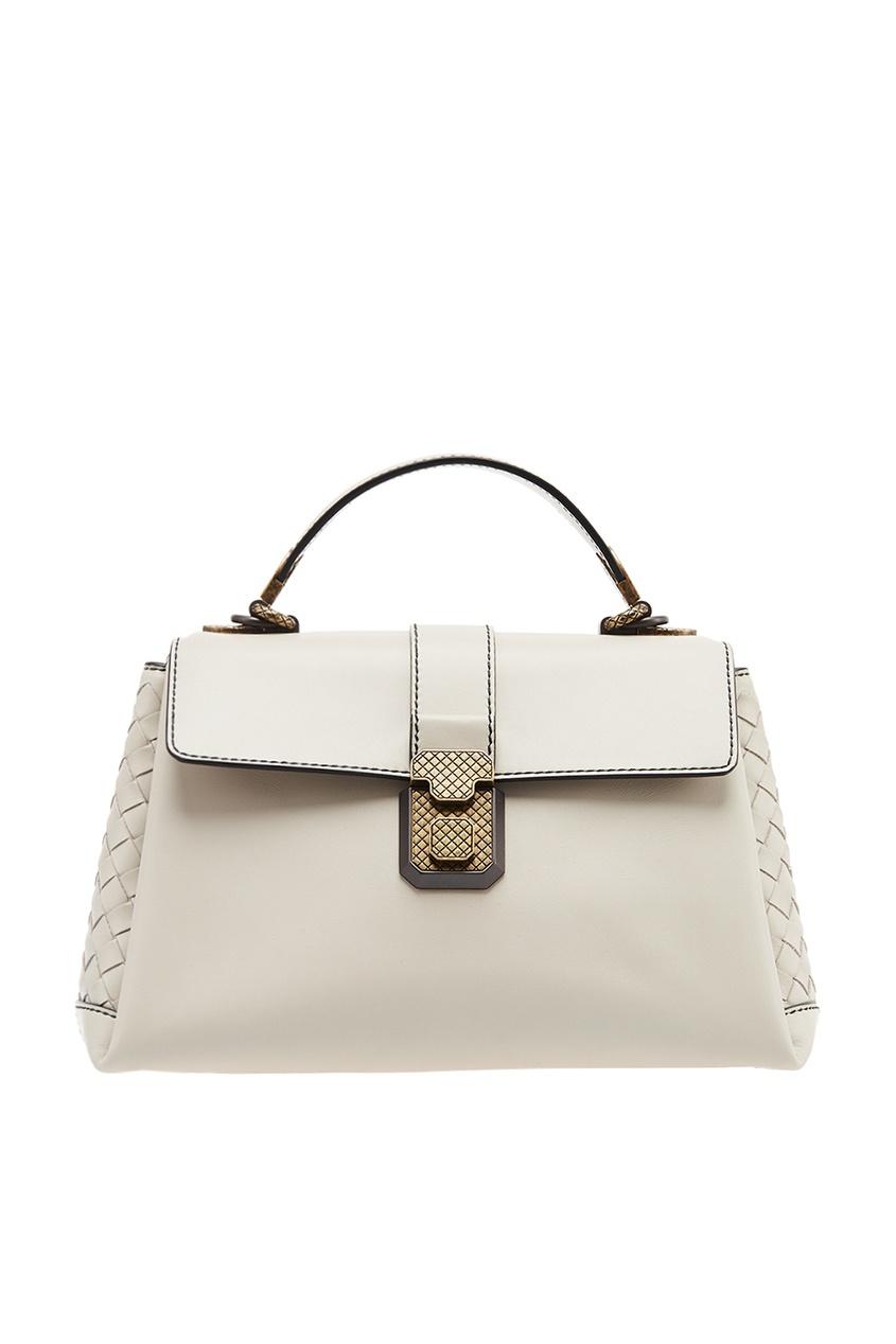 Bottega Veneta Серая кожаная сумка с плетением сумка bottega veneta 45207744ht 2015