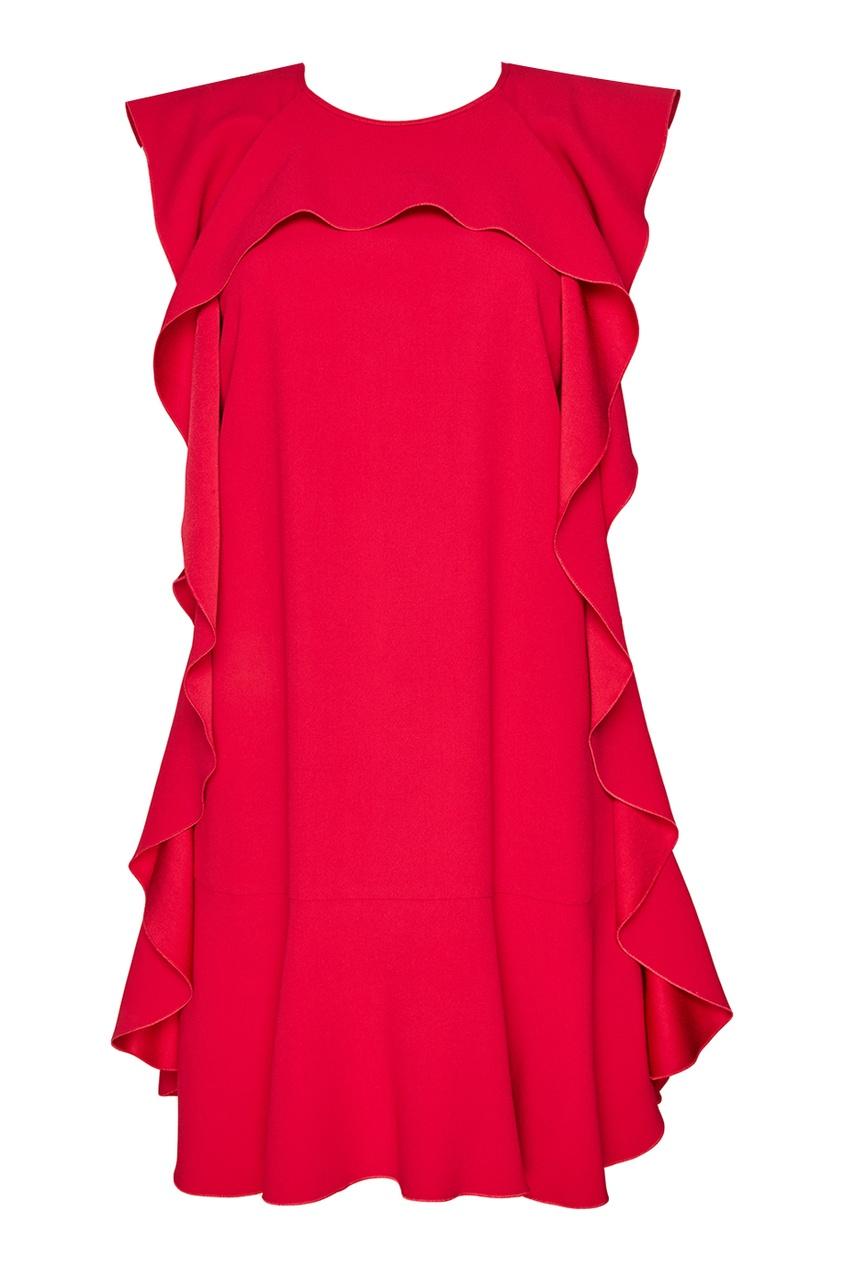 Red Valentino Платье с крупными воланами msgm топ с крупными воланами