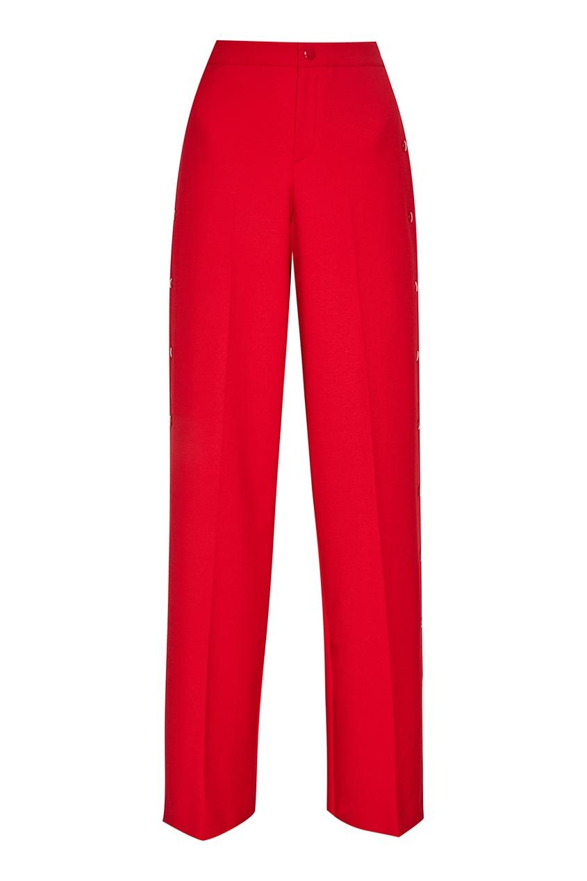 Red Valentino Красные брюки с декоративными кнопками женские брюки red valentino 2015