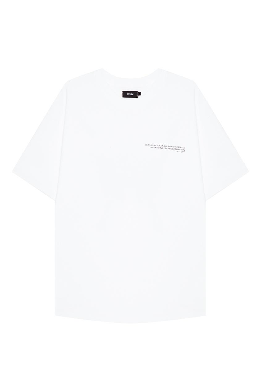 51Percent Белая футболка с надписями нейлоновые чулки с надписями
