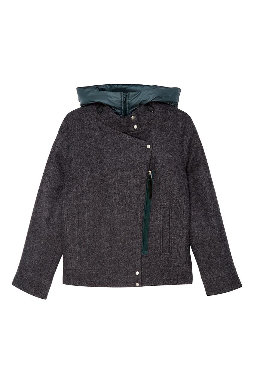 NOVAYA Зеленая куртка с капюшоном novaya свитшот со складкой на спине