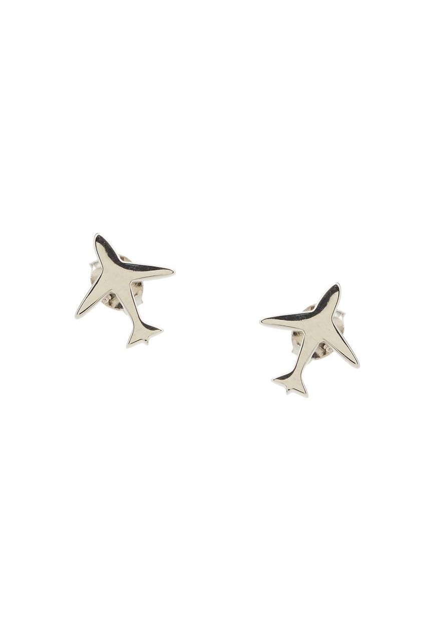 Exclaim Серебряные серьги-самолеты exclaim серьги гвоздики серебряные с камнями