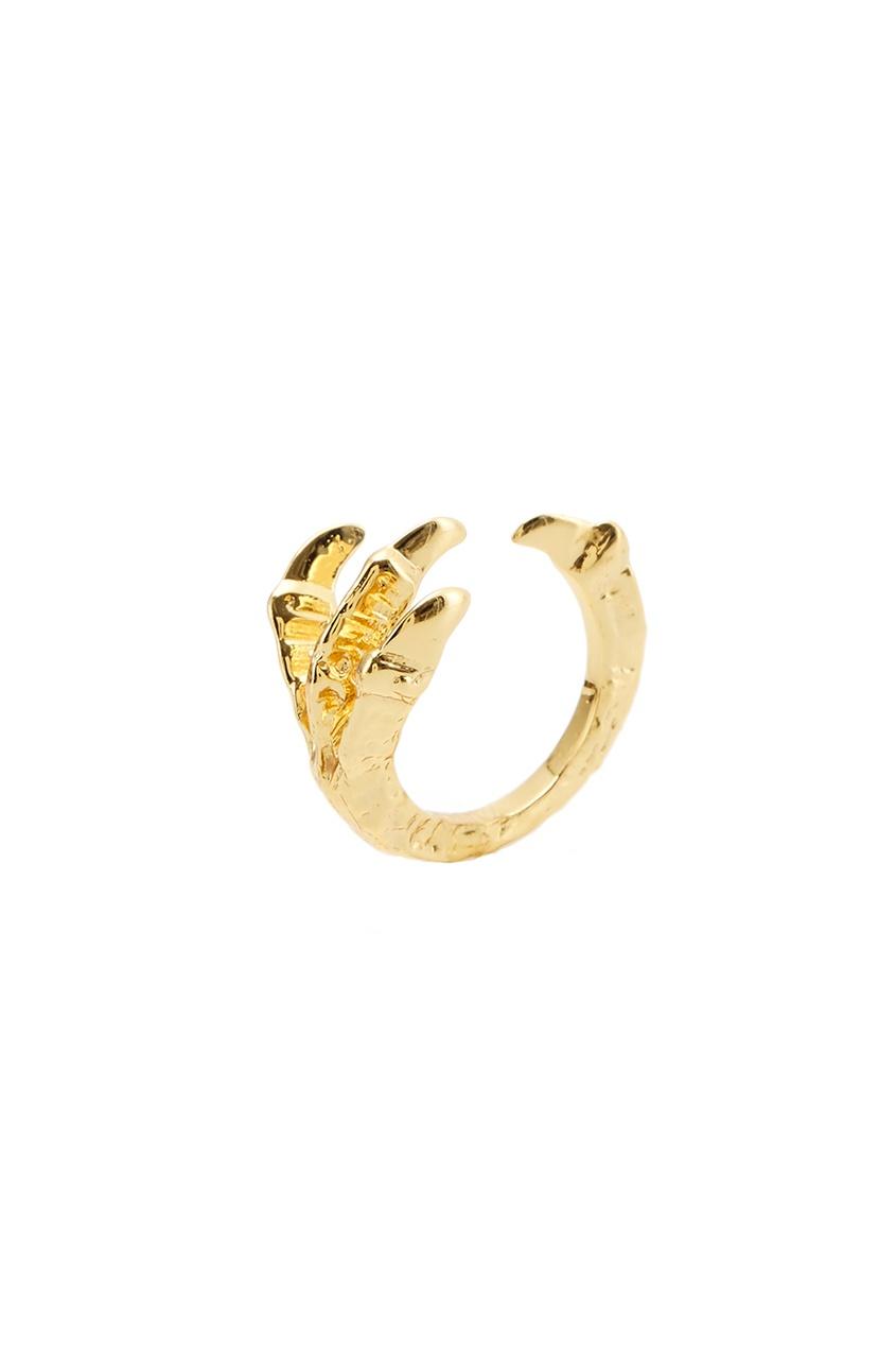 Pamela Love Золотистое кольцо pamela love серьги из латуни с золотым напылением
