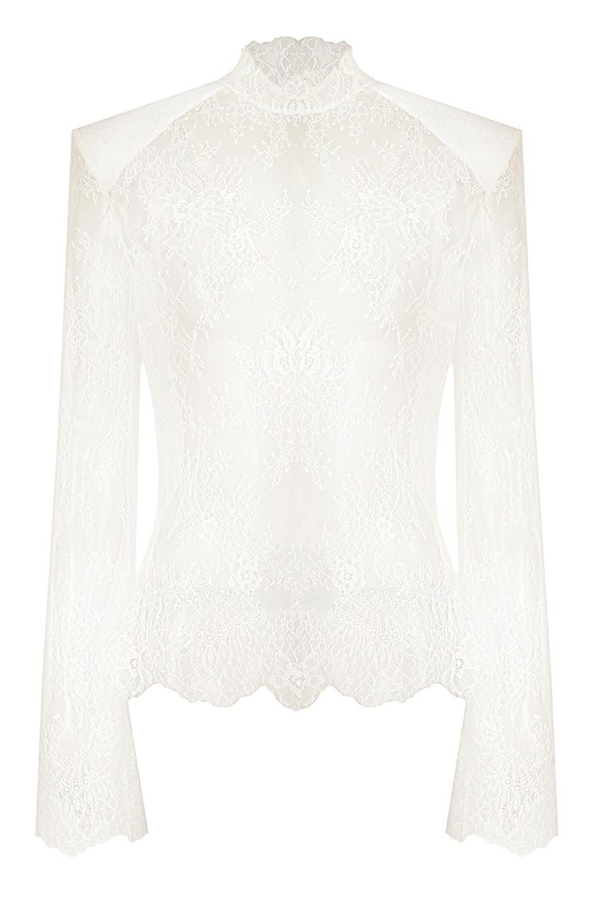 Off-white Белая блузка из кружева
