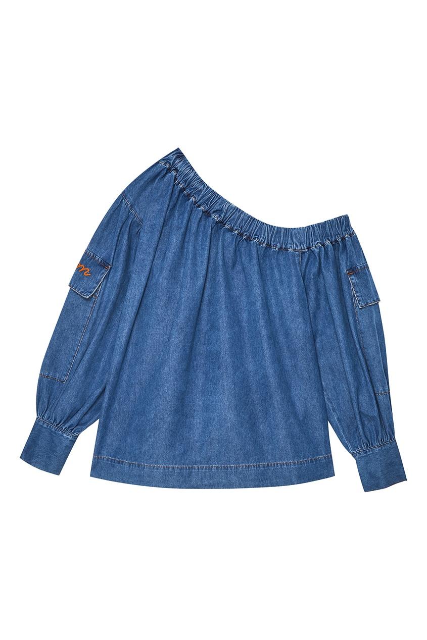 Голубая джинсовая блузка