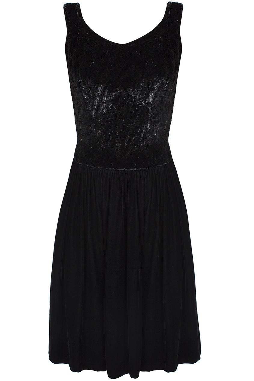 Платье с бархатной юбкой (60-е гг.)