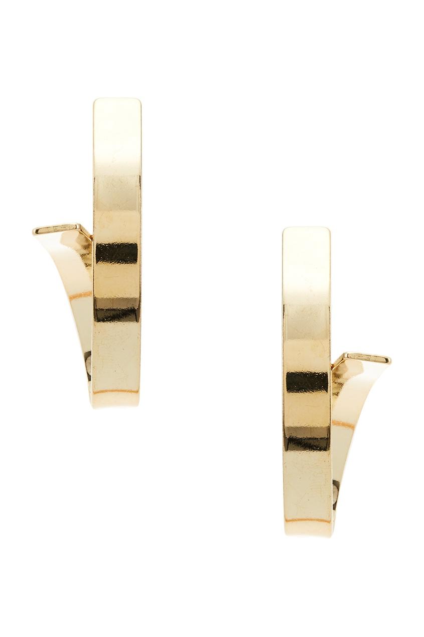Золотистые серьги-петельки