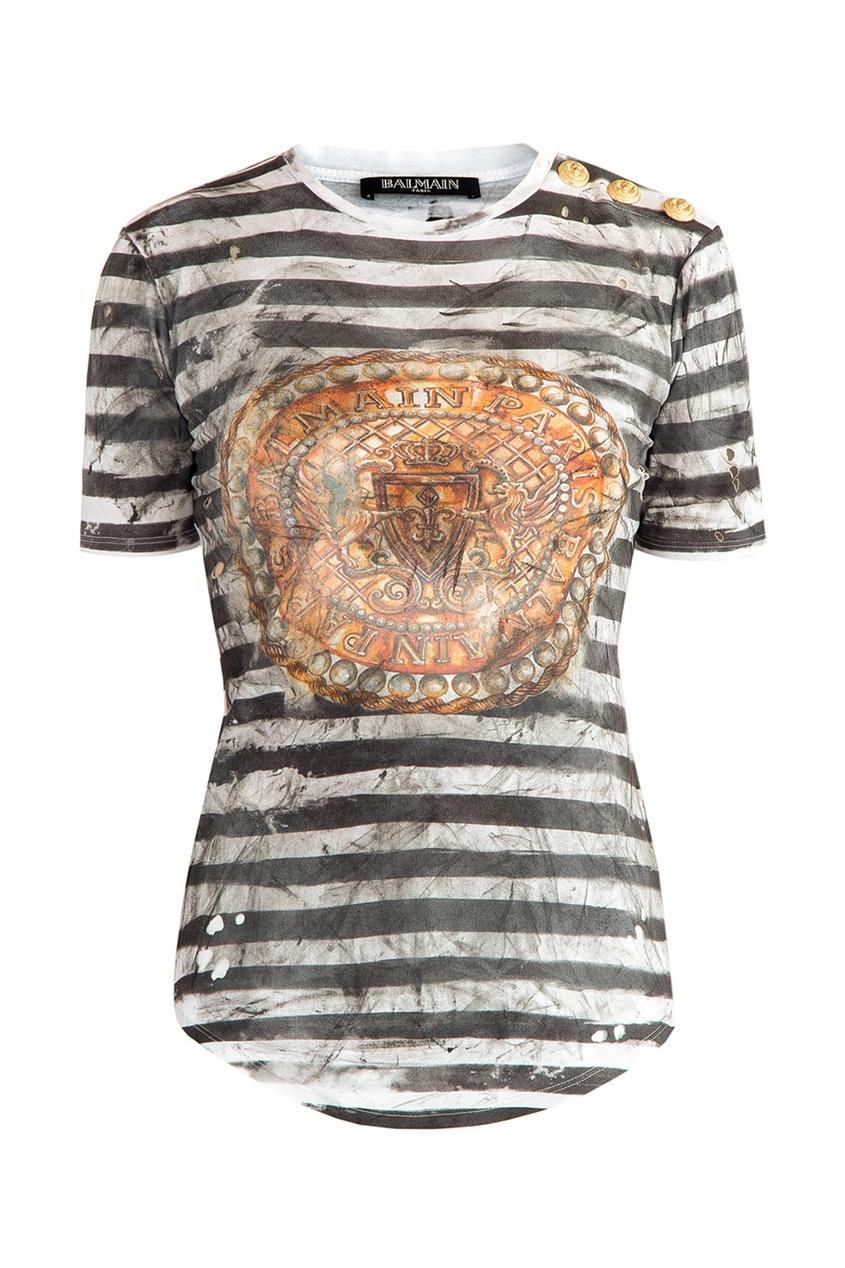 женская футболка balmain