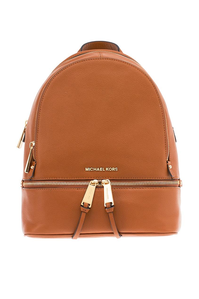 Michael Kors Коричневый рюкзак Rhea Zip рюкзак michael michael kors michael michael kors mi048bwaecc9
