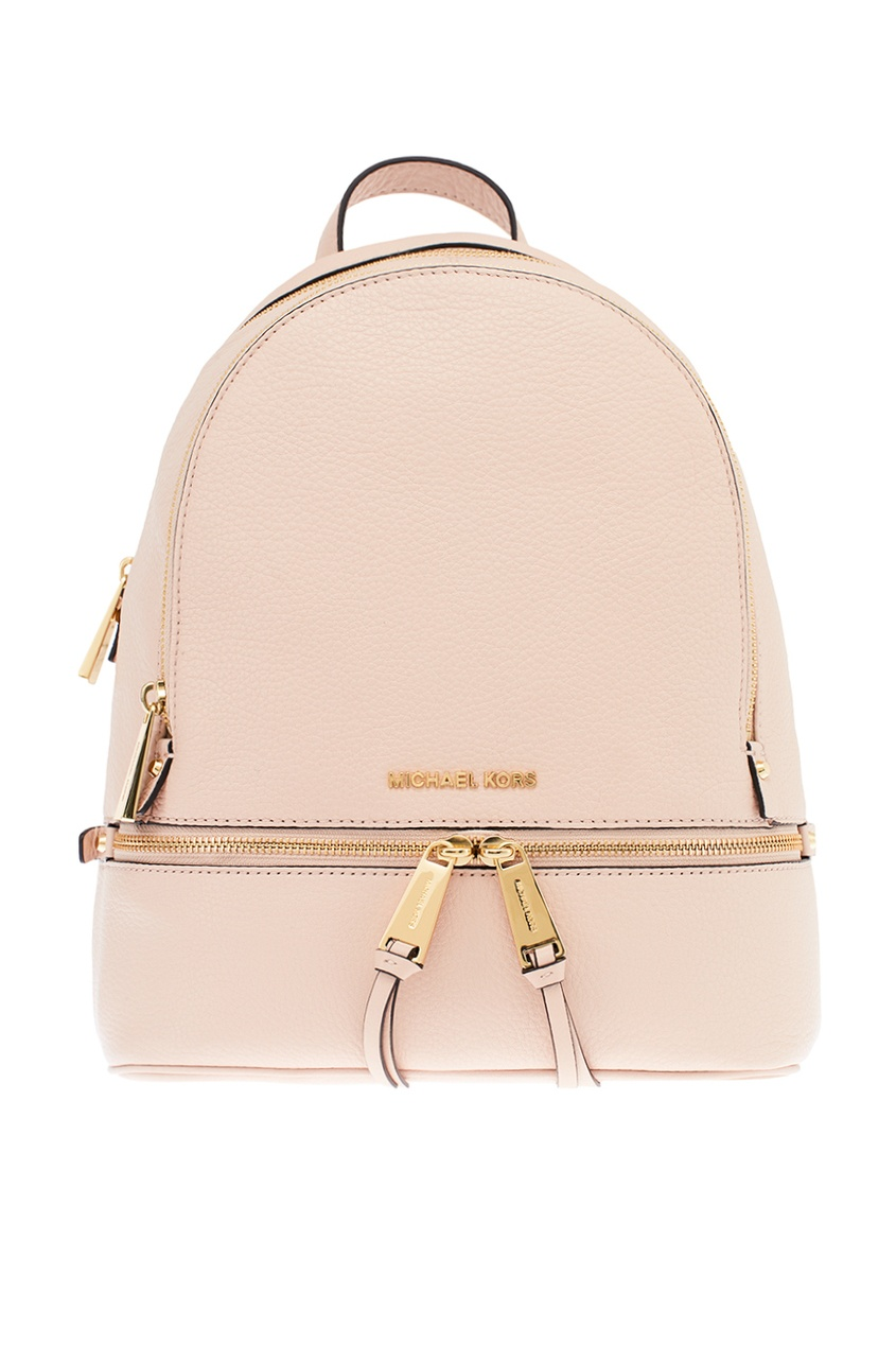 Michael Kors Кожаный розовый рюкзак Rhea Zip рюкзак michael michael kors michael michael kors mi048bwaecc9