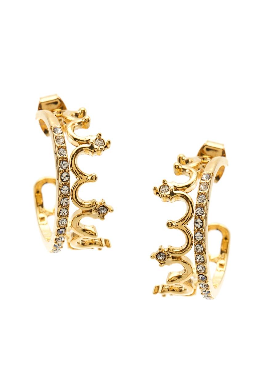 Золотистые серьги-конго