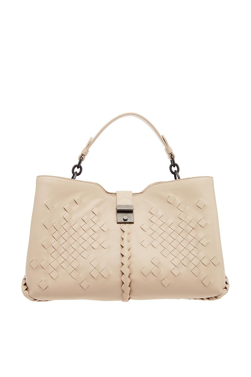 Bottega Veneta Бежевая сумка с плетеной отделкой сумка bottega veneta 45207744ht 2015