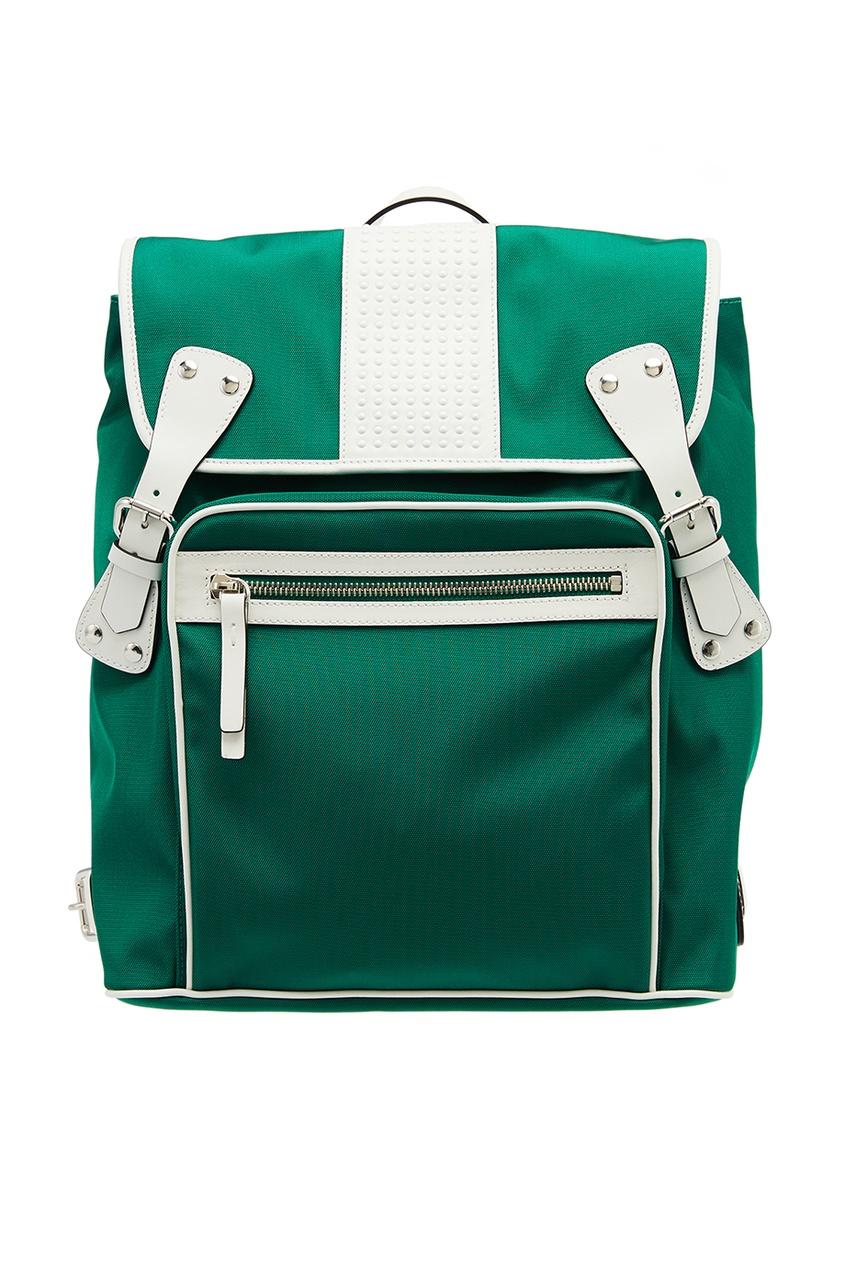 Зеленый рюкзак с контрастной отделкой