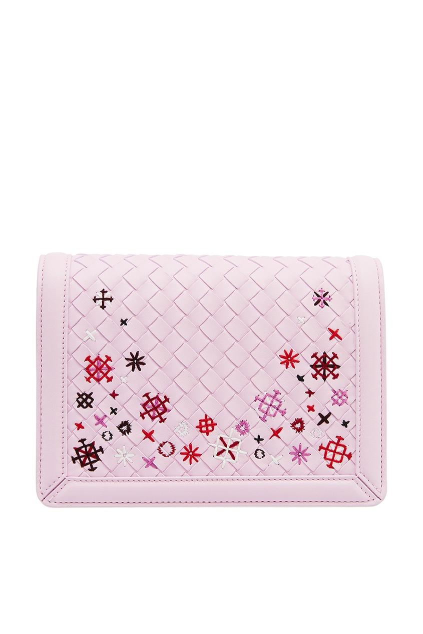 Bottega Veneta Плетеная розовая сумка с вышивкой сумка bottega veneta 45207744ht 2015
