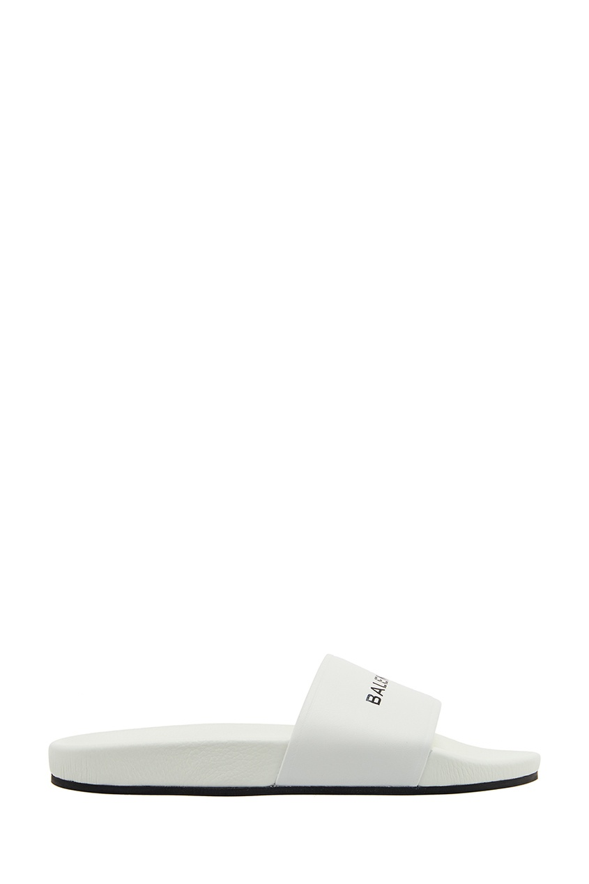 Balenciaga Белые кожаные шлепанцы
