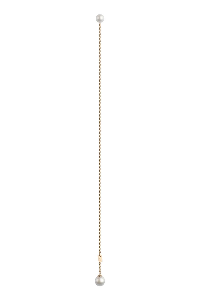 Dusty Rose Моно-серьга из золота с жемчугом
