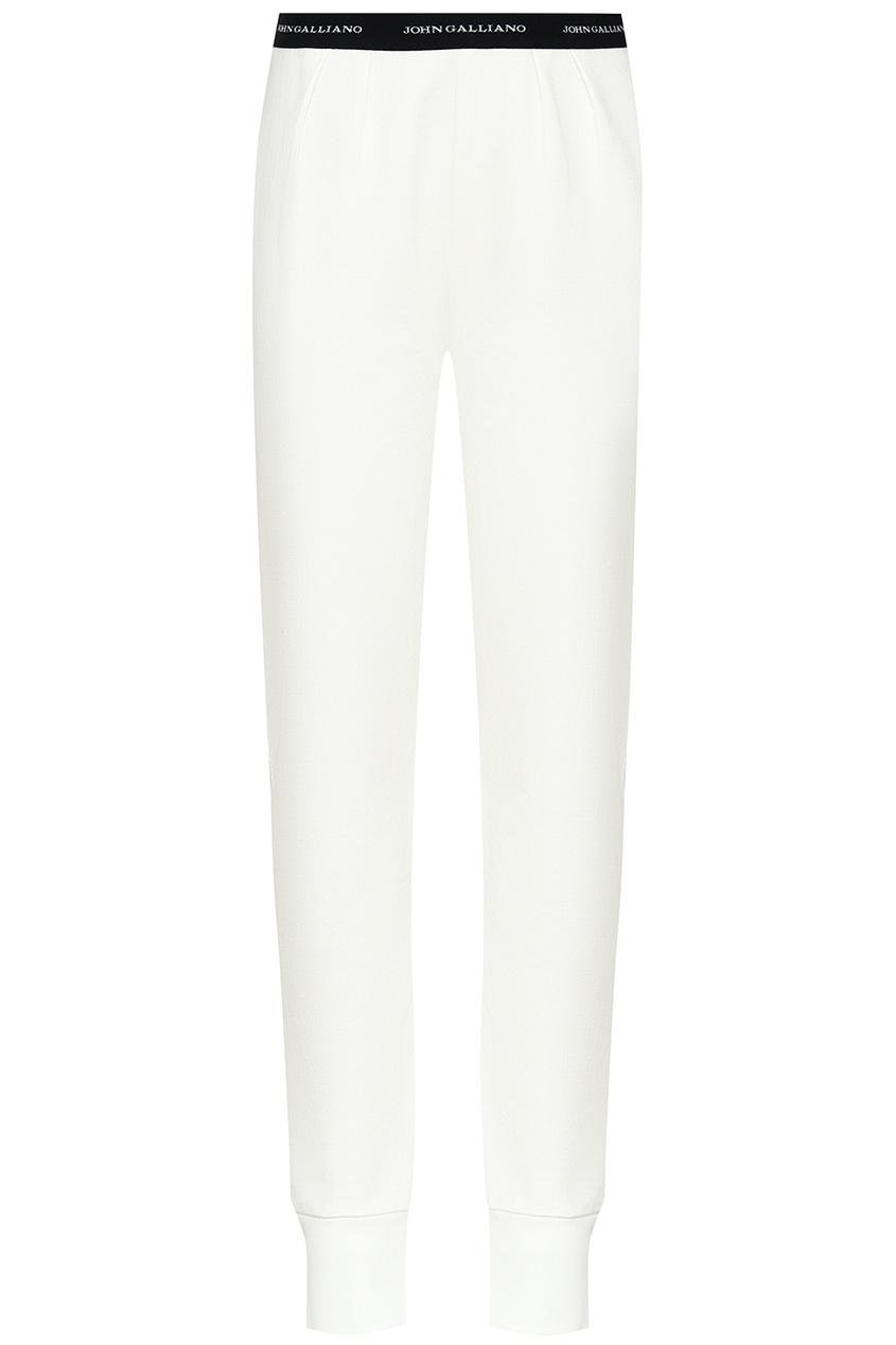 John Galliano Children Белые хлопковые брюки burberry children хлопковые брюки